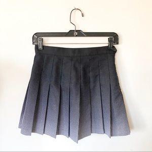 American apparel pleated mini skirt size s black